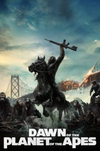 "Poster for the movie ""Dawn of the Planet of the Apes"""