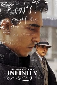 "Poster for the movie ""The Man Who Knew Infinity"""