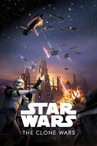"Poster for the movie ""Star Wars: The Clone Wars"""