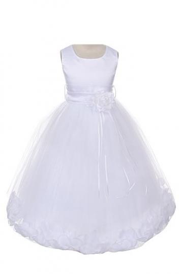 21-Colors-Satin-Bodice-Communion-Flower-Girl-Pageant-Petal-Dress-Infant-14-0