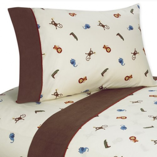 3-pc-Twin-Sheet-Set-for-Jungle-Time-Bedding-Collection-by-Sweet-Jojo-Designs-0