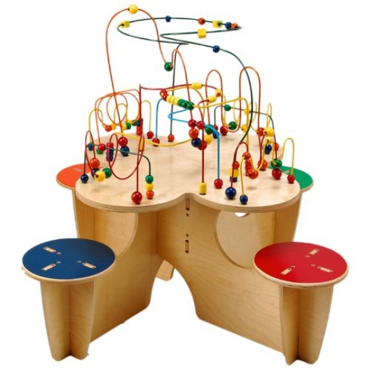 Anatex-Fleur-Table-with-4-Attached-Stools-0