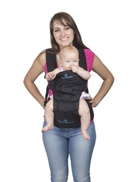 BEST-BABY-CARRIER-with-HIP-SEAT-for-Moms-Dads-Top-Performance-Adjustable-Waistband-5-Comfortable-Safe-Positions-for-Infant-Toddlers-Perfect-for-Shopping-Great-Gift-for-Showers-Holidays-0