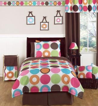 Deco-Dot-Modern-Childerens-and-Teen-3-Piece-Full-Queen-Girls-Bedding-Set-0