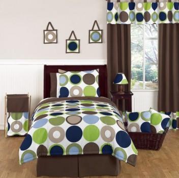 Designer-Dot-Modern-Childrens-and-Teen-Boys-Bedding-Set-4-Piece-Twin-Set-0