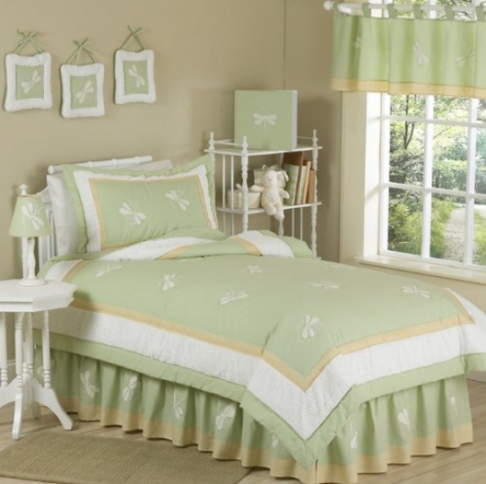 Green-Dragonfly-Dreams-Childrens-Bedding-4-Piece-Boy-or-Girl-Twin-Set-0