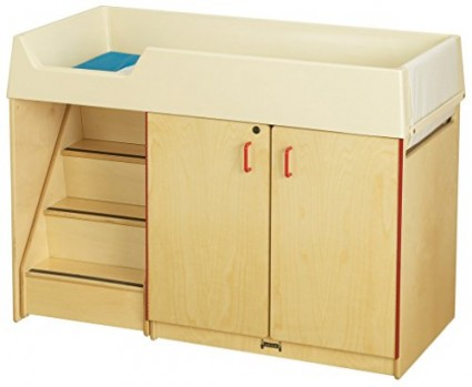 Jonti-Craft-5145JC-Diaper-Changer-with-Stairs-Left-0