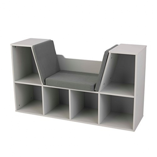 KidKraft-Bookcase-with-Reading-Nook-Furniture-Gray-0