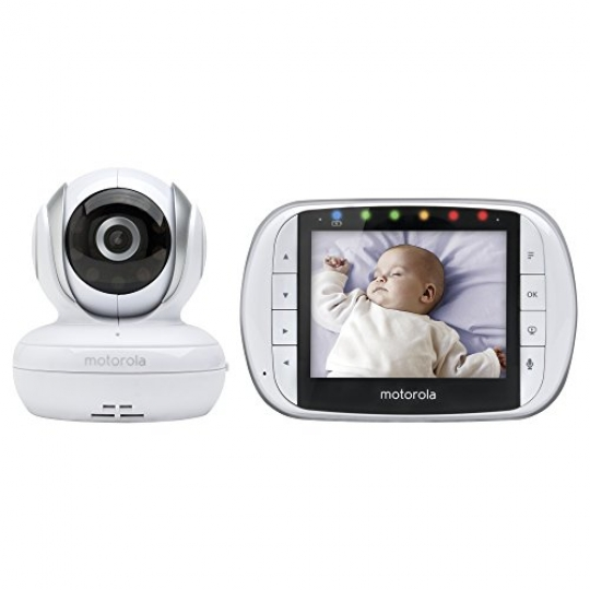 Motorola-MBP33XL-24-GHz-FHSS-Digital-Video-Color-Screen-Baby-Monitor-0