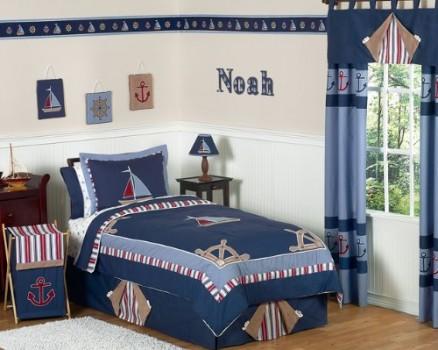 Nautical-Nights-Boys-Sailboat-Childrens-Bedding-4pc-Twin-Set-0