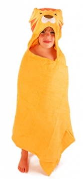 SaturdayKnight-Animal-Face-Hooded-Baby-Towel-Lion-0