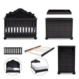 Simmons Kids 5 Piece Nursery Furniture Set Crib 7 Drawer