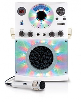 Singing-Machine-SML385BTBK-Top-Loading-CDG-Karaoke-System-with-Bluetooth-Sound-and-Disco-Light-Show-Black-0