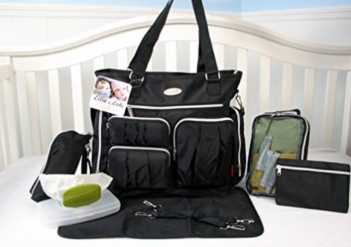 SoHo-Collection-Times-Square-8-pieces-Diaper-Tote-Bag-set-Classic-Black-0