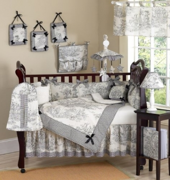 Sweet-Jojo-Designs-Black-French-Toile-Baby-Boy-or-girls-Unisex-Bedding-9pc-Crib-Set-0