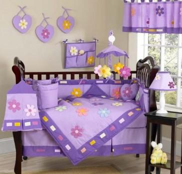 Sweet-Jojo-Designs-Danielles-Daisies-Flower-Baby-Girl-Purple-Floral-Bedding-9pc-Purple-Crib-Bedding-Set-0