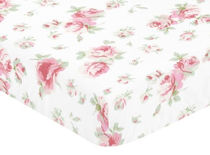 Sweet-Jojo-Designs-Fitted-Crib-Sheet-for-Rileys-Roses-BabyToddler-Bedding-Set-Collection-Rose-Print-0