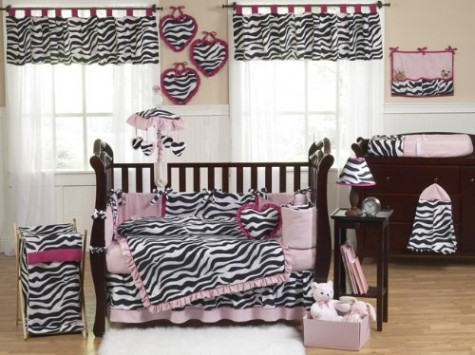 Sweet-Jojo-Designs-Pink-Black-and-White-Funky-Zebra-Animal-Print-Baby-Girl-Bedding-9pc-Crib-Set-0
