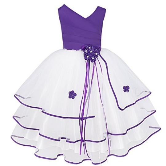 iEFiEL-Kids-Girls-Organza-Tulle-Wedding-Flower-Dress-School-Graduation-Short-Gown-0
